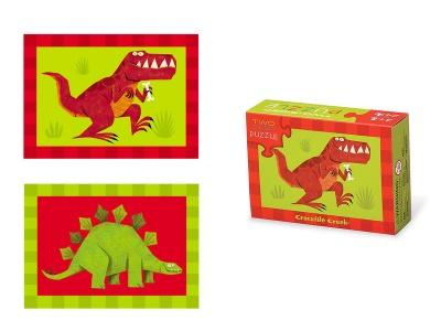 Poza produs Puzzle cu doua fete Dinozaur