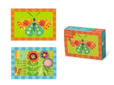 Poza produs Puzzle cu 2 fete Fluture