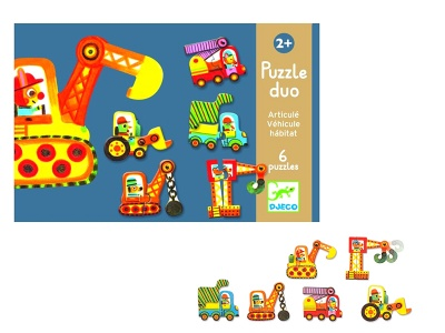 Poza produs Puzzle DUO Vehicule